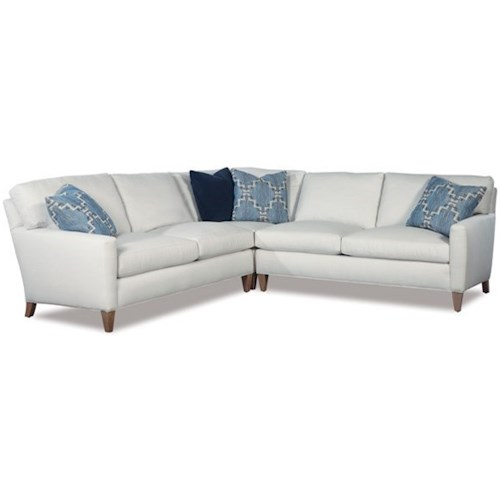 Geoffrey Alexander 2100 Modern Three Piece Corner Sectional Sofa