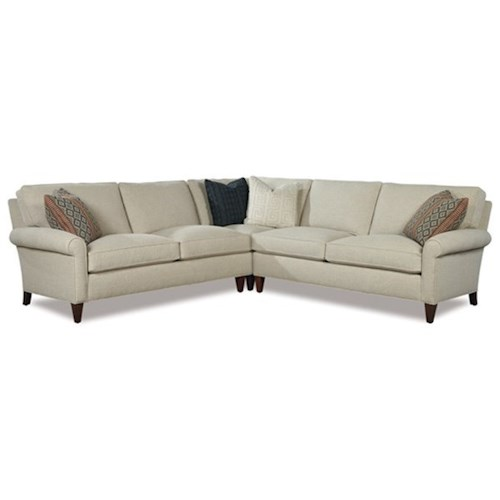 Huntington House Harper Casual Three Piece Sectional Sofa