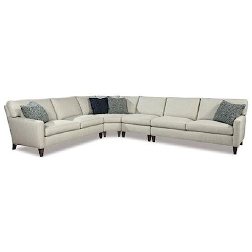 Huntington House 2100 Modern Four Piece Sectional Sofa