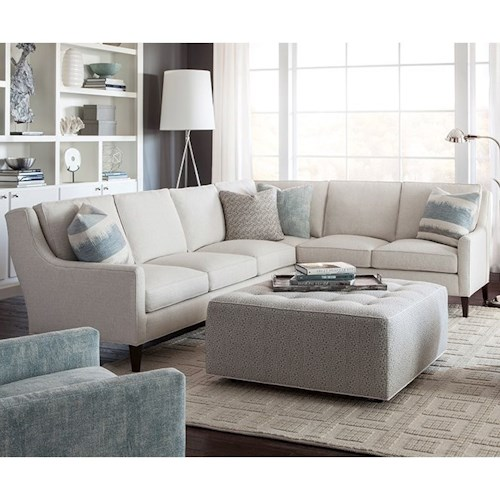Huntington House 2200 Contemporary Sectional Sofa with Track Arms