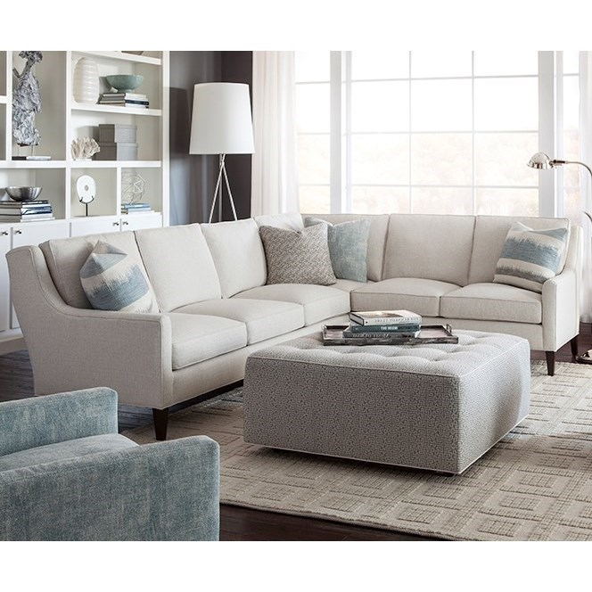 Nice Huntington House 2200 Contemporary Sectional Sofa With Track Arms