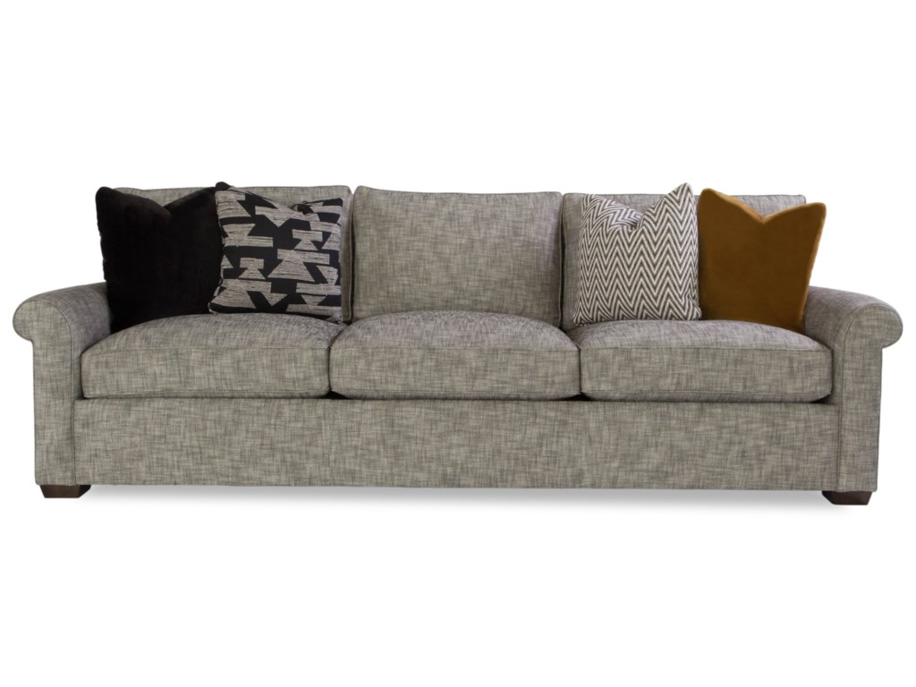 Geoffrey Alexander PlushCustomizable Sofa w/ Rolled Arms