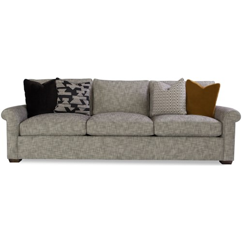 Geoffrey Alexander Plush Customizable Sofa with Rolled Arms