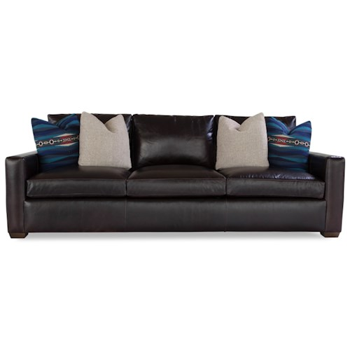 Huntington House Plush Customizable Sofa with Track Arms