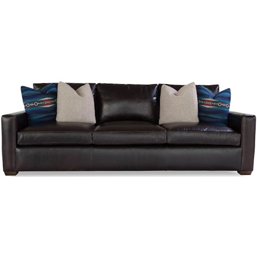 Geoffrey Alexander Plush Customizable Sofa with Track Arms