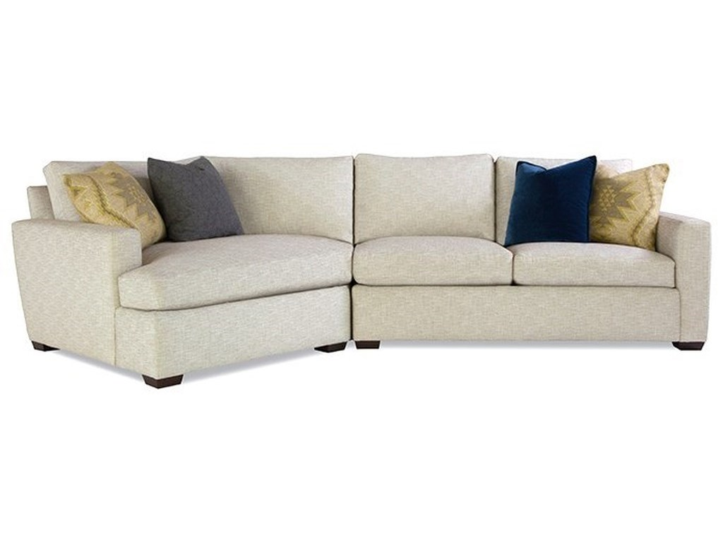 Huntington House Plush ModCustomizable Sectional w/ Track Arms
