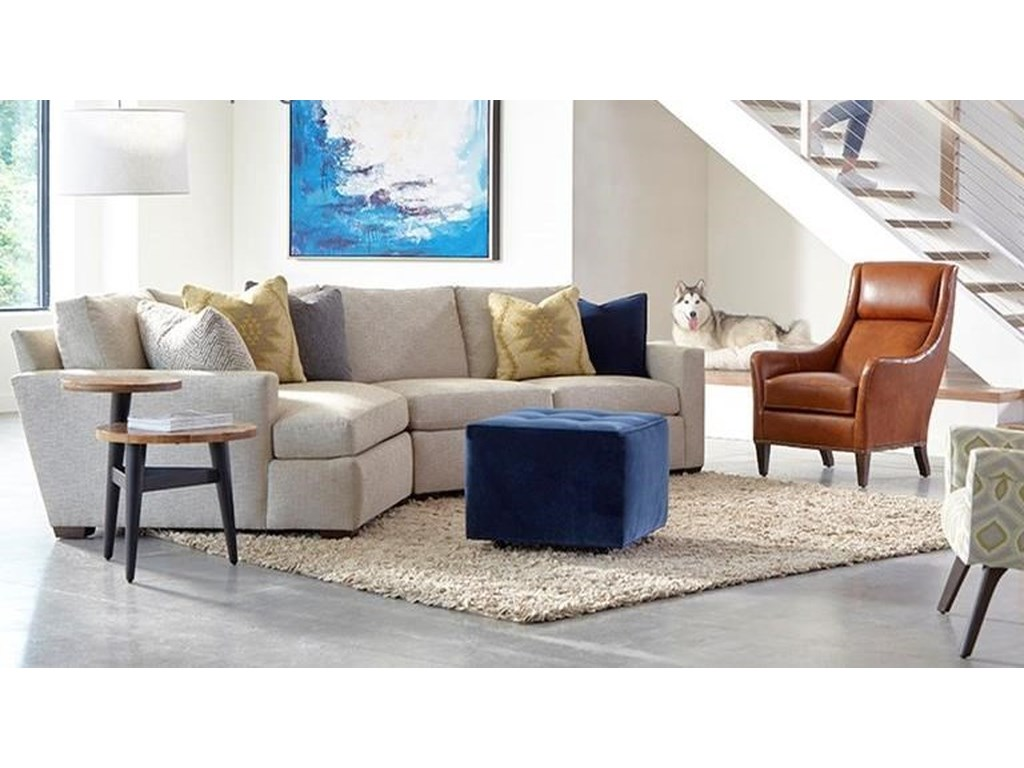 Huntington House PlushCustomizable Sectional w/ Track Arms