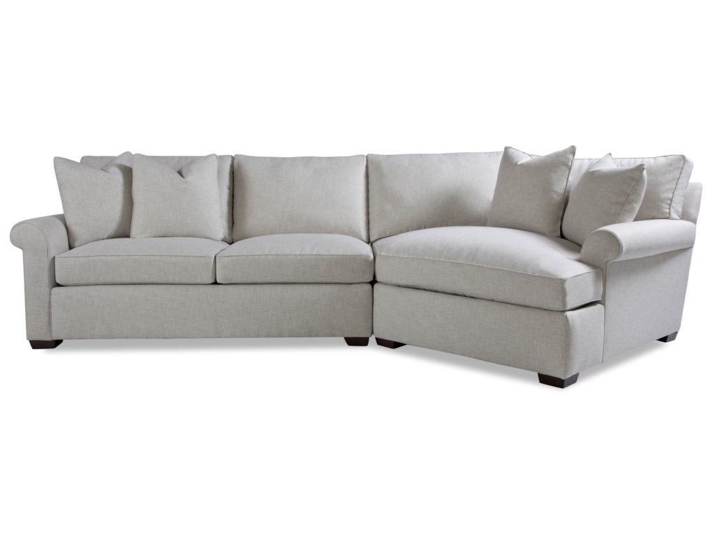 Huntington House Plush2 Pc Sectional Sofa w/ Roll Arm