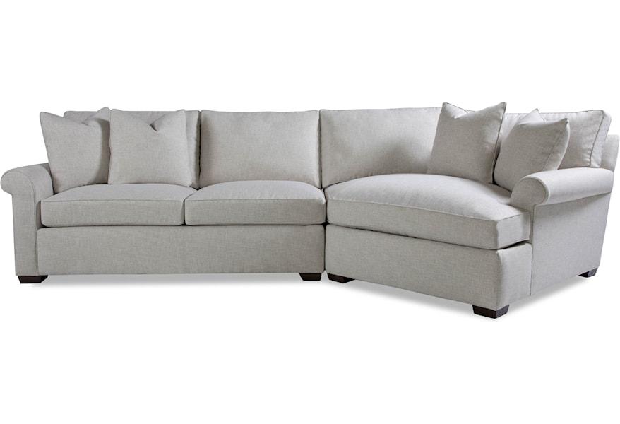 Geoffrey Alexander Plush Two Piece Sectional Sofa with RAF ...
