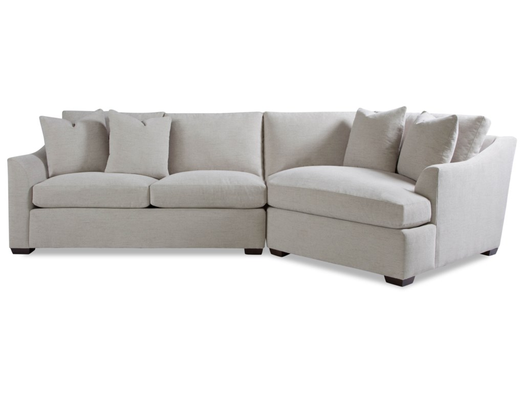 Huntington House Plush2 Pc Sectional Sofa w/ Flare Arms
