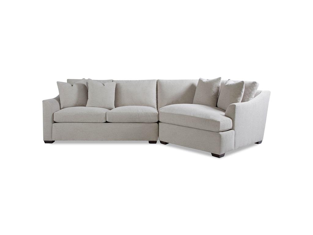 Huntington House Plush2 Pc Sectional Sofa W Flare Arms