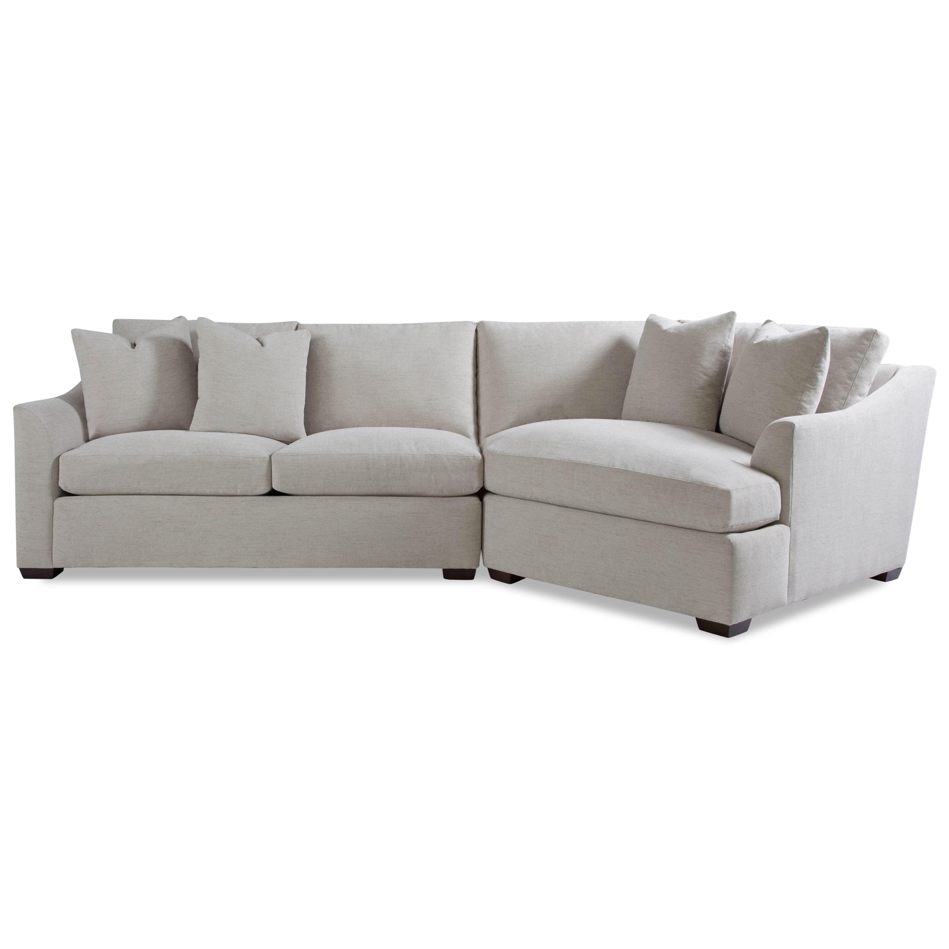 Huntington House Plush2 Pc Sectional Sofa W/ Flare Arms ...