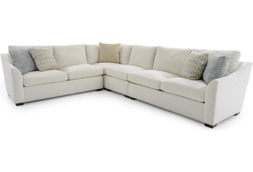 Huntington House Plush 2300 4 Pc Four Piece L Shape Sectional Sofa