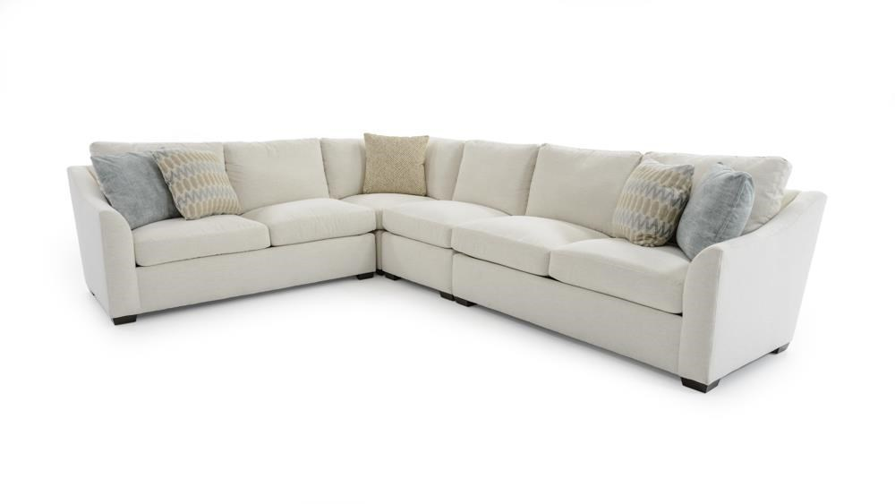 Huntington House Plush4 Pc Sectional W/ Flare Arms ...