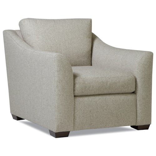 Huntington House Plush Chair with Flared Arms