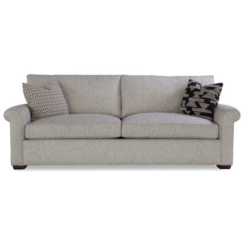 Huntington House Plush Customizable Two Cushion Sofa with Rolled Arms