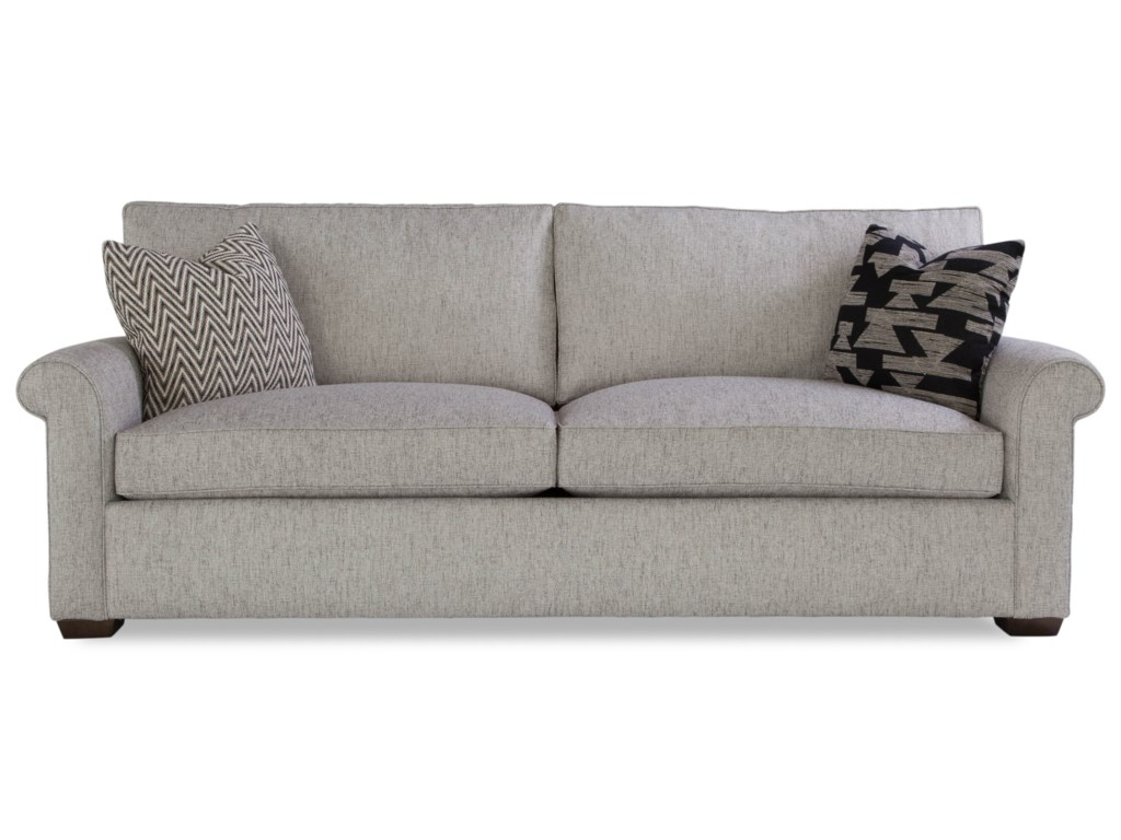 Huntington House PlushTwo Cushion Sofa w/ Rolled Arms