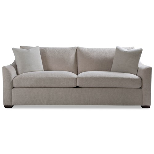Huntington House Plush Two Cushion Sofa with Flared Arm