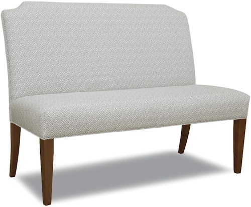 Geoffrey Alexander 2405 Dining Banquette with Tapered Legs