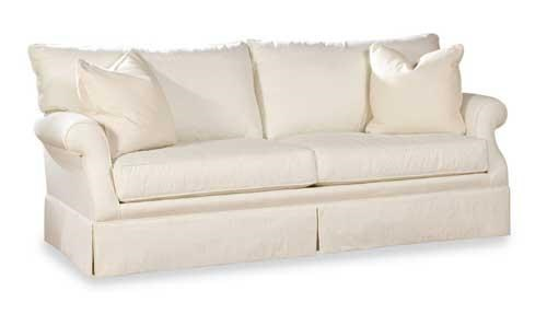 Geoffrey Alexander 2051 Customizable Casual Sofa With Clean Skirt