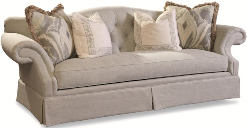Geoffrey Alexander 3337 Traditional Sofa with Button Tufting