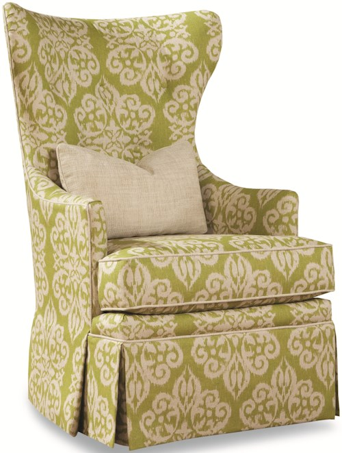 Geoffrey Alexander 3392 Traditional Swivel Chair with Wing Back