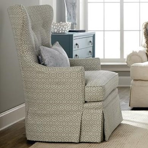Huntington House 3392 Traditional Swivel Chair with Wing Back