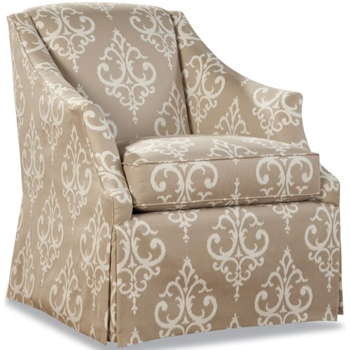 Huntington House 3399 Traditional Skirted Chair with Flair Tapered Arms