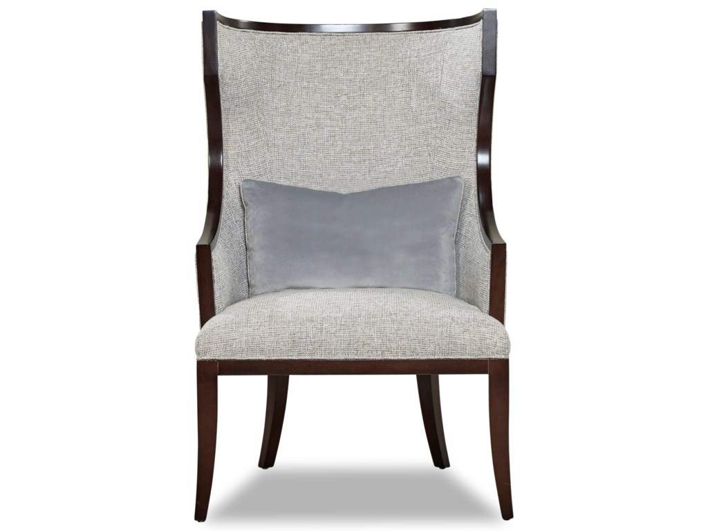Huntington House 6125Exposed Wood Accent Chair