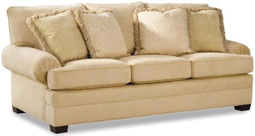 Huntington House 2061 Upholstered Sofa with Low Profile Rolled Arms