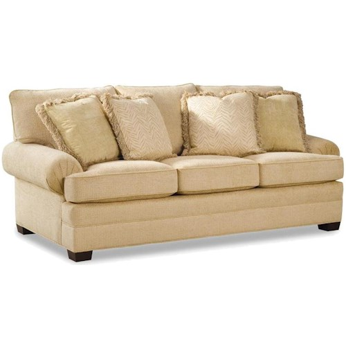 Geoffrey Alexander 2061 Upholstered Sofa with Low Profile Rolled Arms