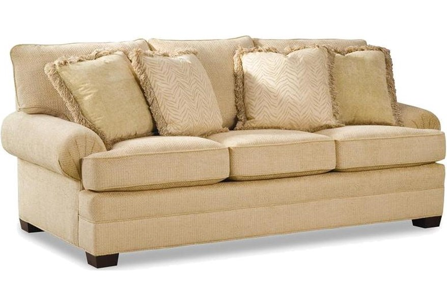 Huntington House 2061 Upholstered Sofa With Low Profile Rolled Arms Belfort Furniture Sofas