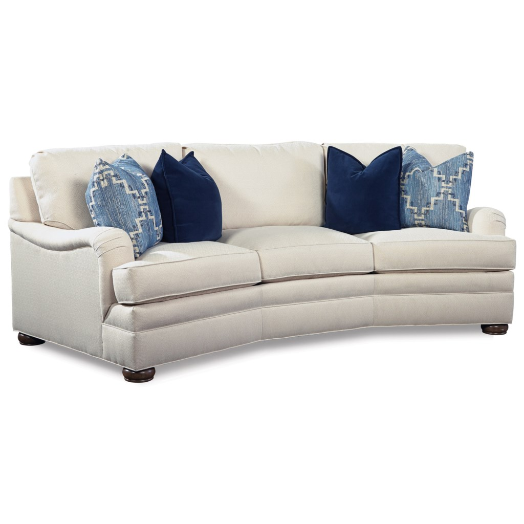 Huntington House 2061 Conversation Sofa with Curved Arms Baer s