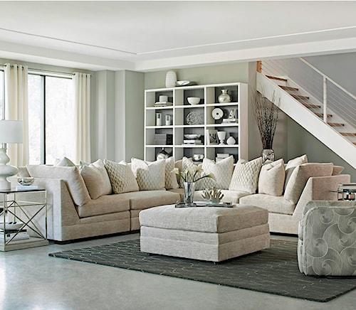 Huntington House 7100 Five Piece Armless Sectional Sofa