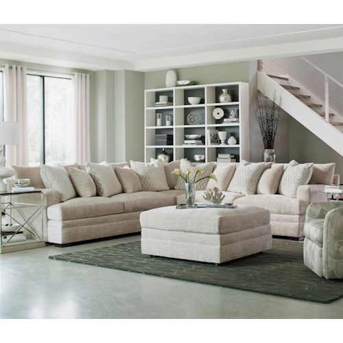 Geoffrey Alexander 7100 Contemporary L-Shape Sectional with Track Arms