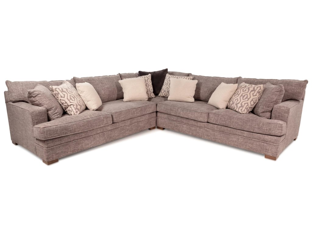 Beacon Contemporary L-Shape Sectional with Track Arms by Huntington House  at Rotmans