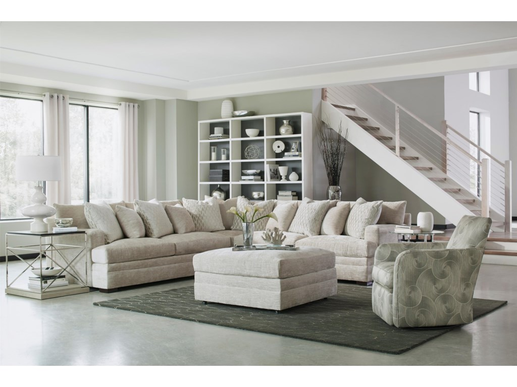 Huntington House 71004 Pc Sectional Sofa