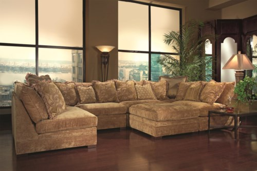 Modern Huntington House 7100 Contemporary Sectional Sofa with Accent Pillows Lovely - Lovely Huntington House sofa New Design
