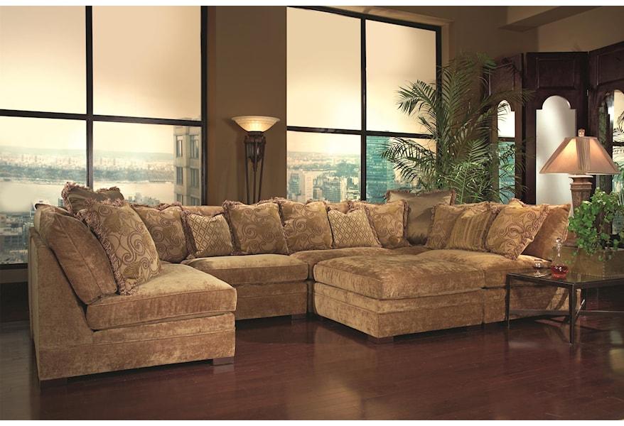 Huntington House 7100 Godfrey Contemporary Sectional Sofa With