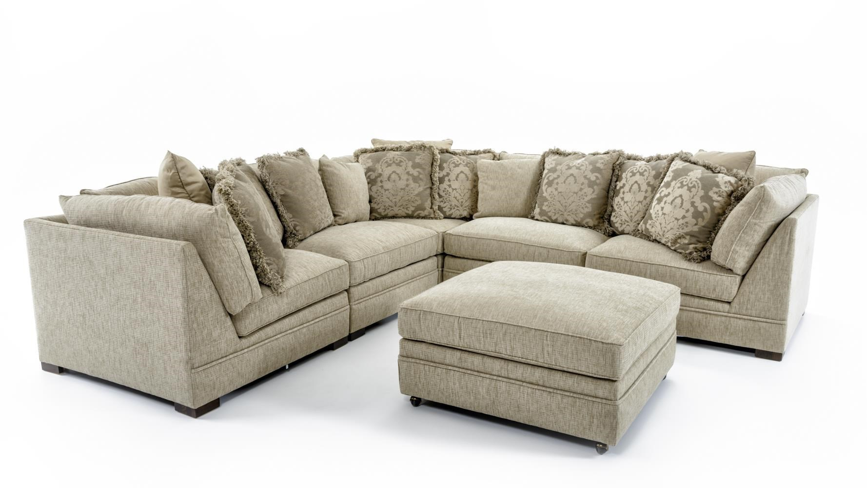 Huntington House 7100 4X7100-51+7100-31 Five Piece Corner Sectional Sofa  sc 1 st  Baeru0027s Furniture : huntington sectional sofa - Sectionals, Sofas & Couches