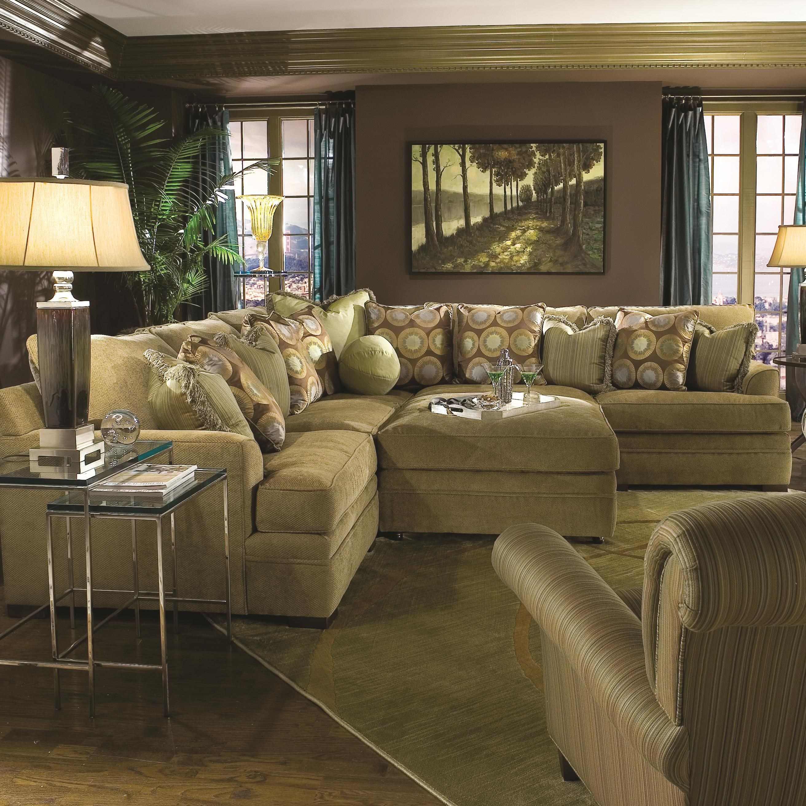 huntington house 7100 casual contemporary l shape sectional sofa rh wayside furniture com Parker House Huntington Table Huntington House Sectional