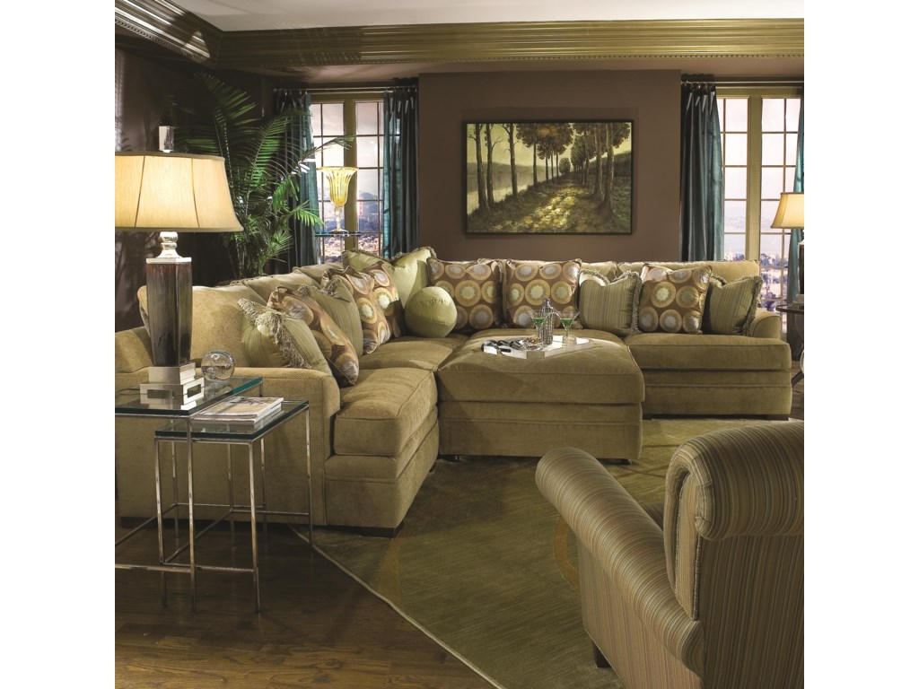 Huntington House 7100 GodfreySectional Sofa