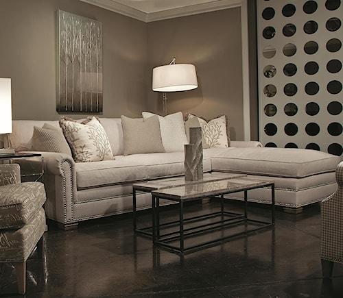 Huntington House 7107 Right Arm Facing Sofa Chaise w/ Roll Arms