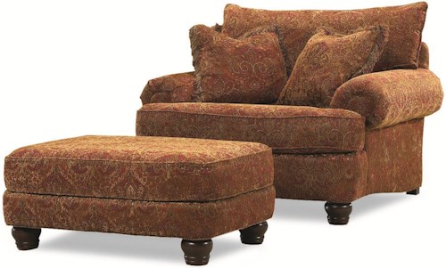 Huntington House 2081 Upholstered Resting Chair with Foot Ottoman