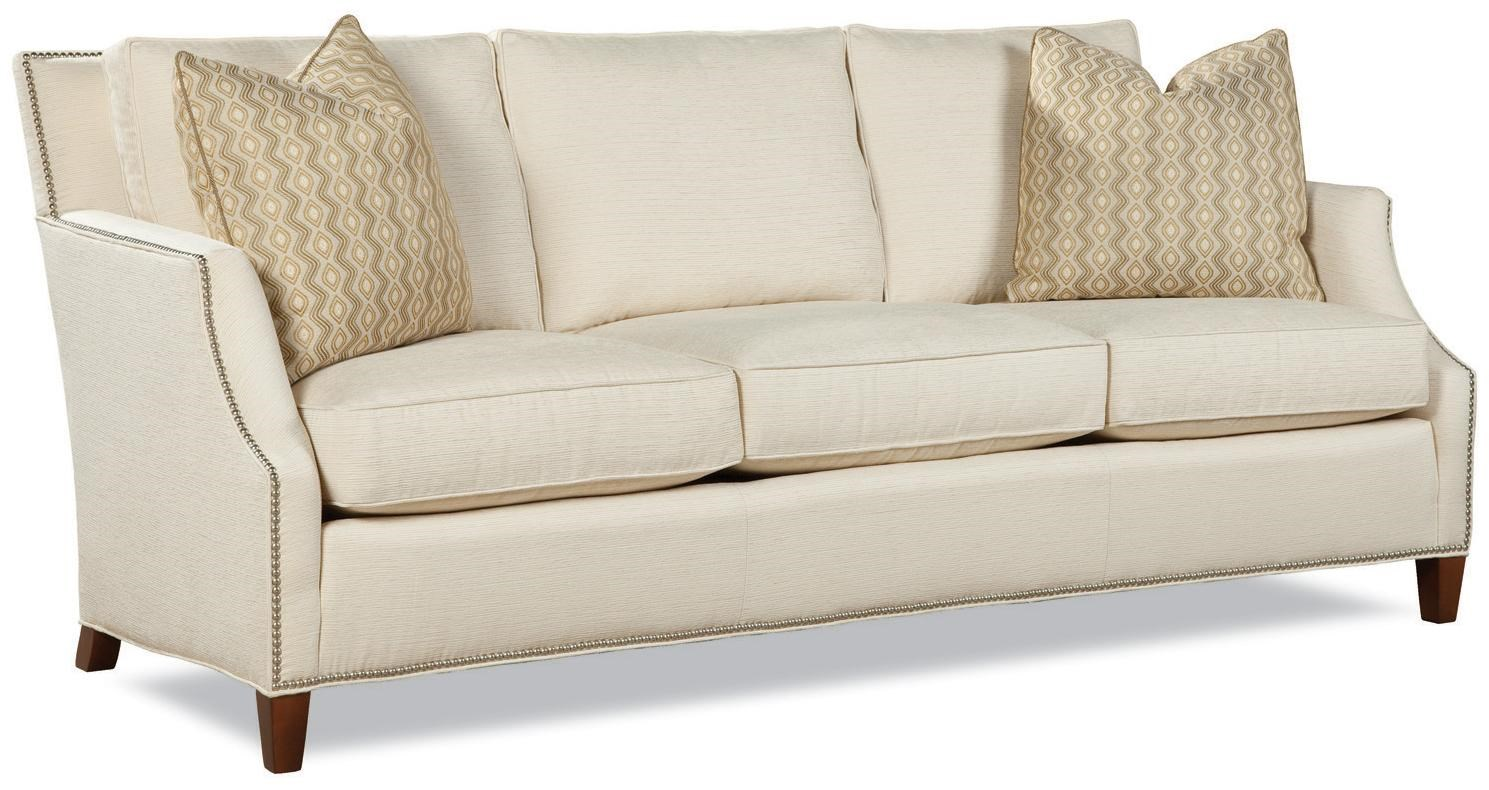 Huntington House Chloe Contemporary Sofa With Tapered Wood Legs   Belfort  Furniture   Sofa