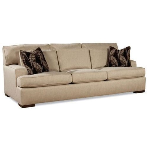 Huntington House 7117 Sofa with Exposed Wood Feet