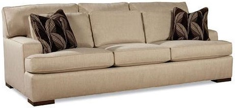 Geoffrey Alexander 7117 Sofa with Exposed Wood Feet