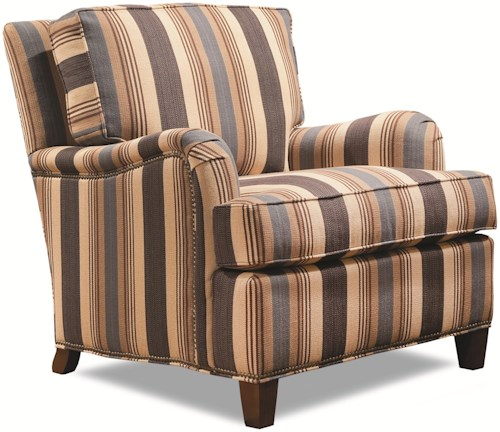 Huntington House 7125 Upholstered Arm Chair with English Arms & Loose Back Cushion