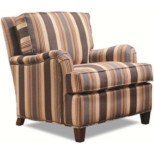 Geoffrey Alexander 7125 Upholstered Arm Chair with English Arms & Loose Back Cushion