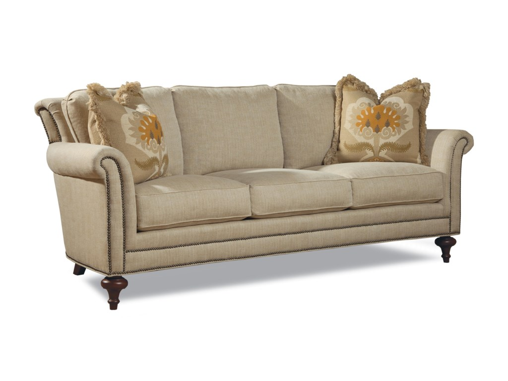 Huntington House Sawyer Traditional Sofa W Turned Legs